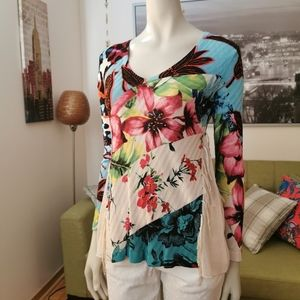🇪🇸 Desigual S Flower jersey in Small
